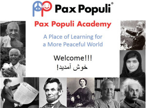 Landing page of Pax Populi Academy